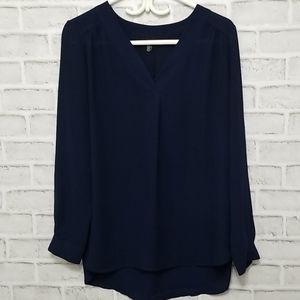 3/$20 Jasmine & Juliana Navy Blouse Size M